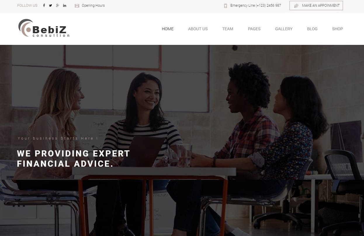 bebiz-simple-website-template