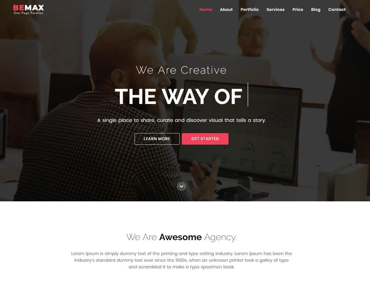 bemax-travel-website-template