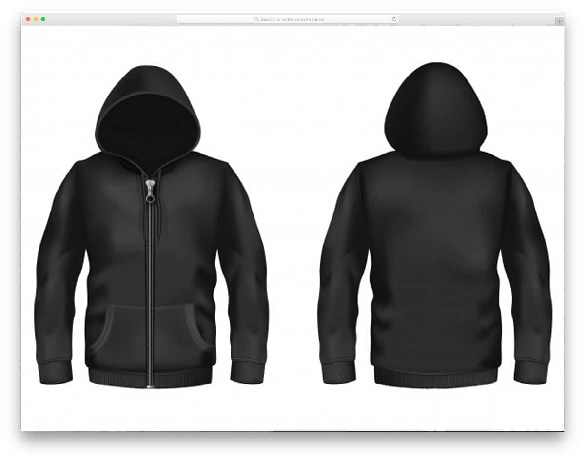 black-hoodie-with-zipper