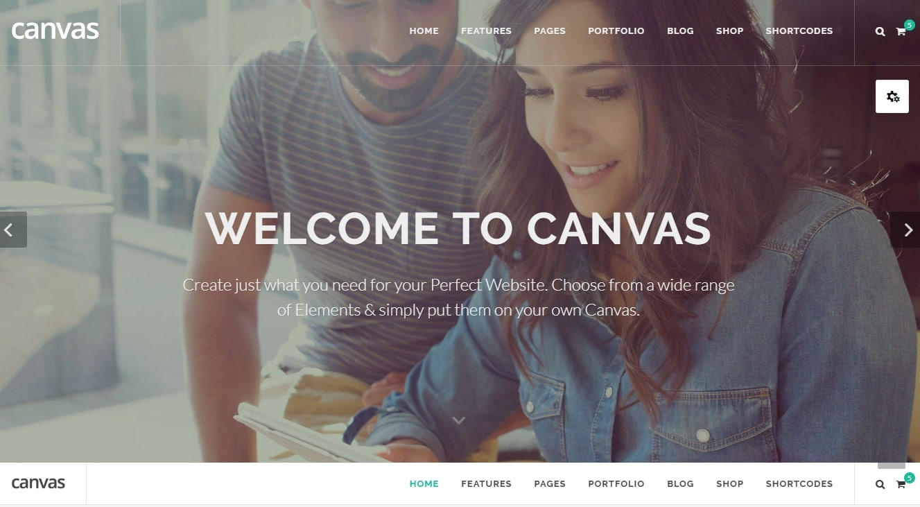 canvas-landing-page-website-template