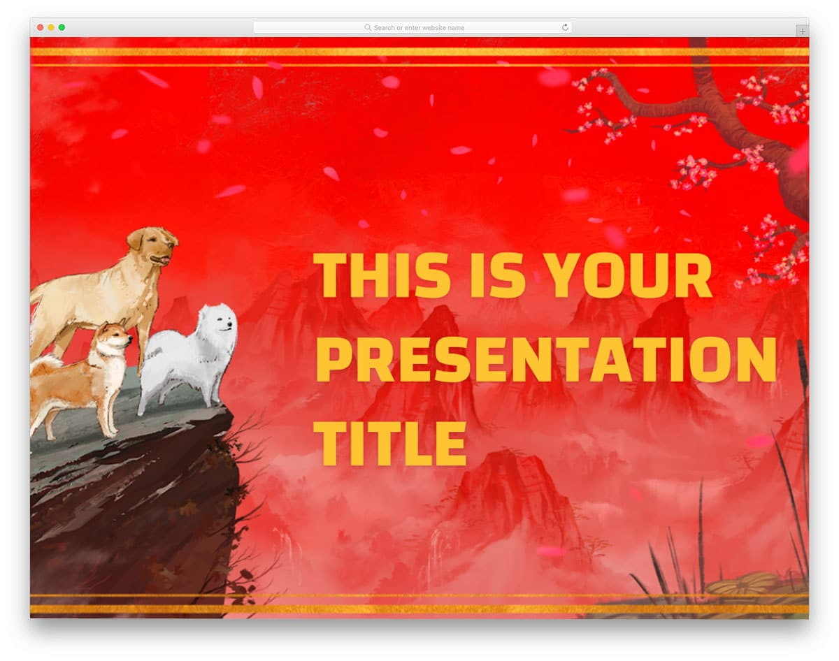 chinese newyear 18 free powerpoint templates