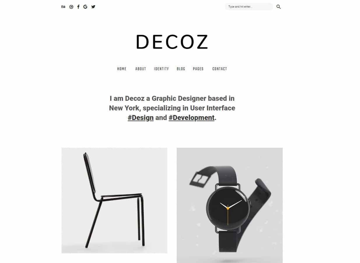 decoz-simple-website-template