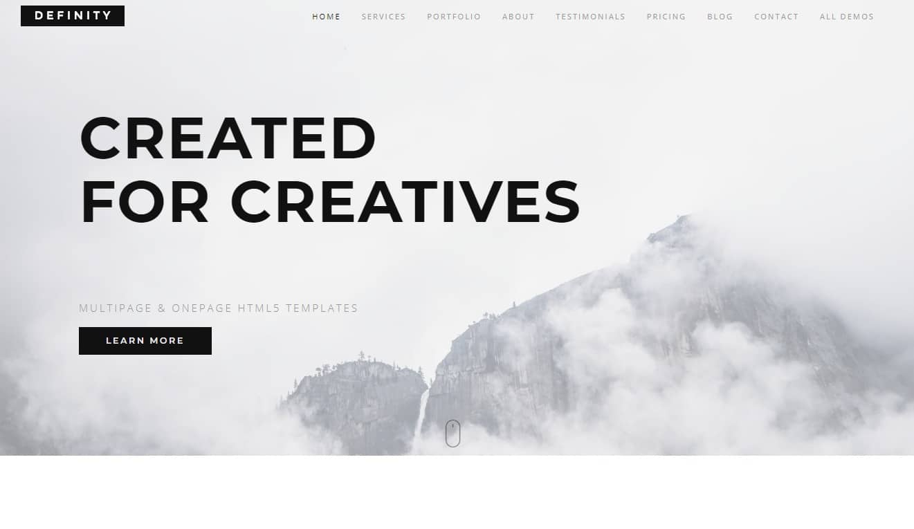definity-one-page-website-template