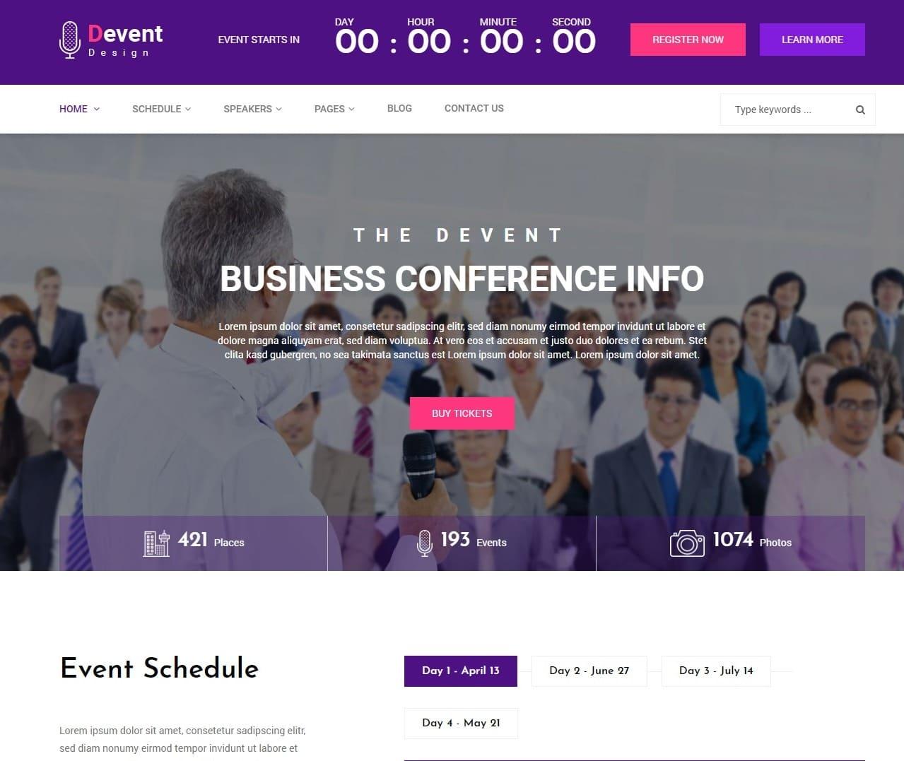 dvent-event-templates