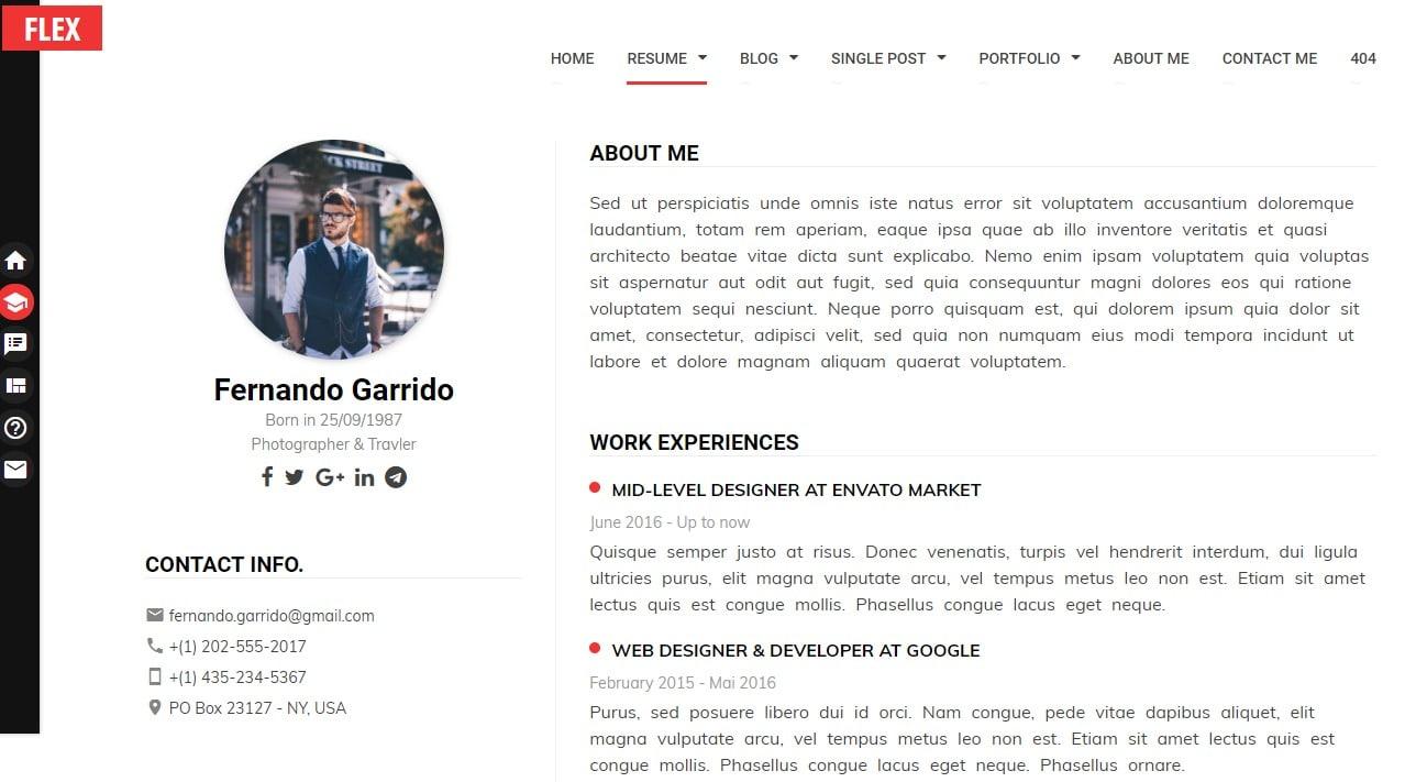 flex-simple-website-template
