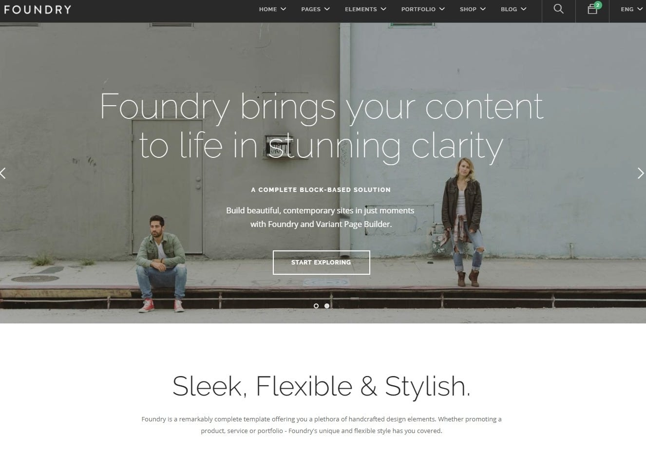 foundry-one-page-website-template