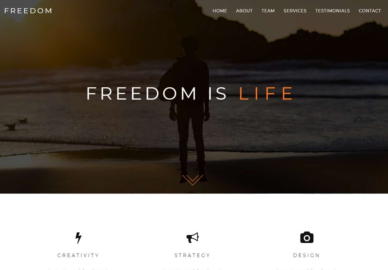 freedom-simple-website-template