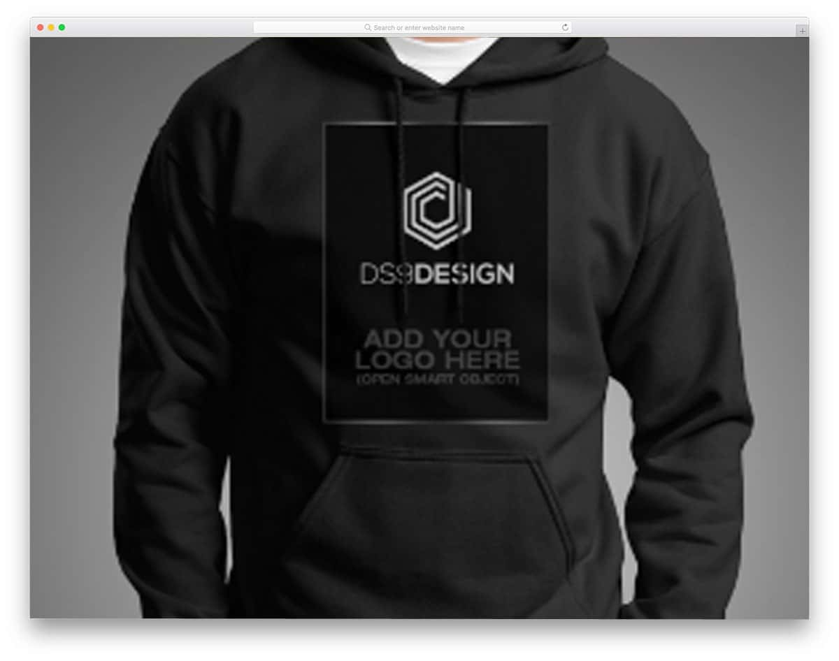 Gildan G18500 Hoodie Mockup Is A Free Shared By Designer At The Behance Community This With Model Taken Under Perfect Studio Lighting