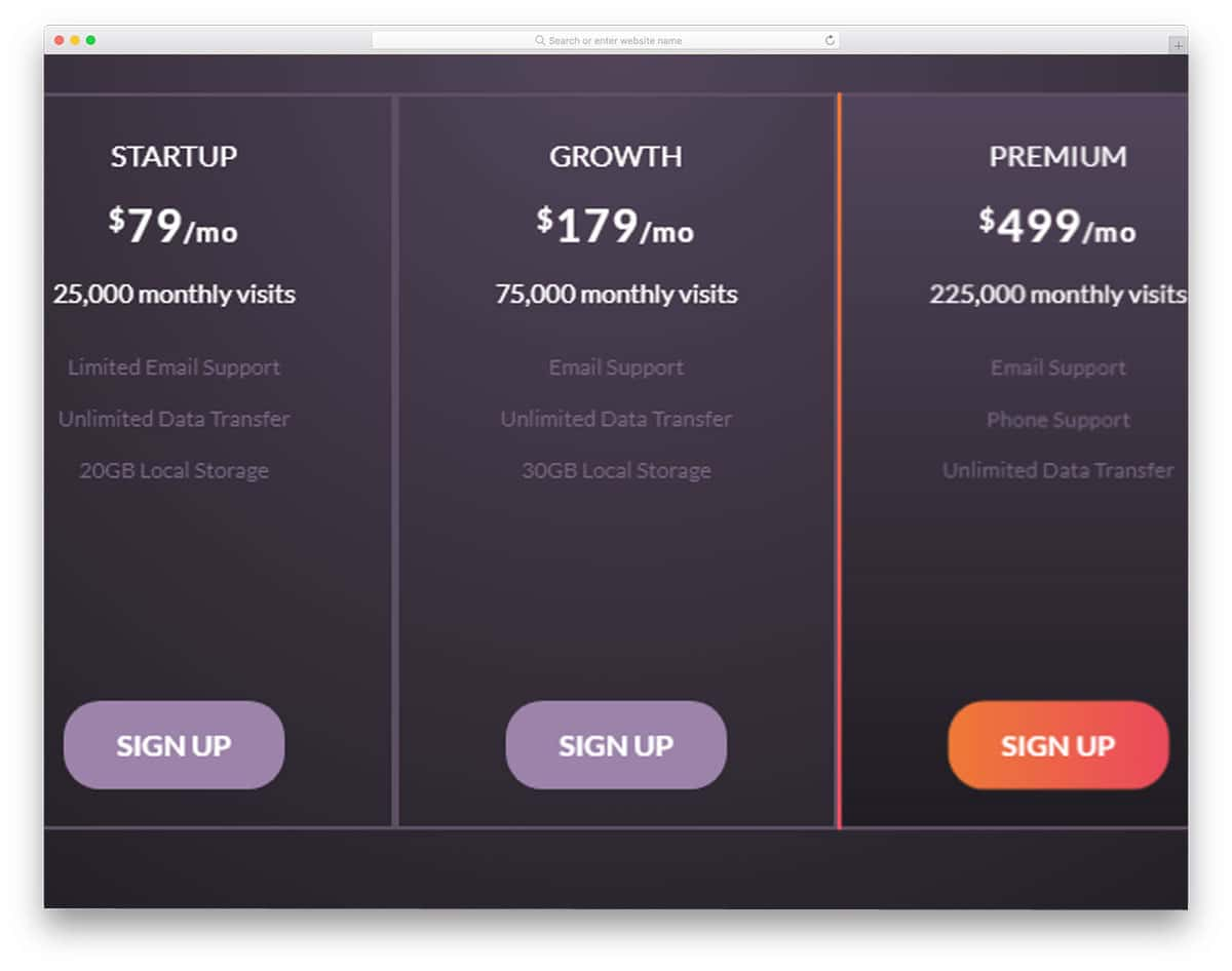 hosting-pricing-table