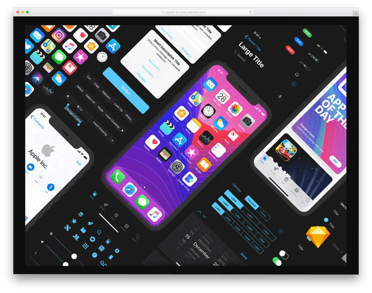 iPhone-X-UI-Kit-free-ui-kits