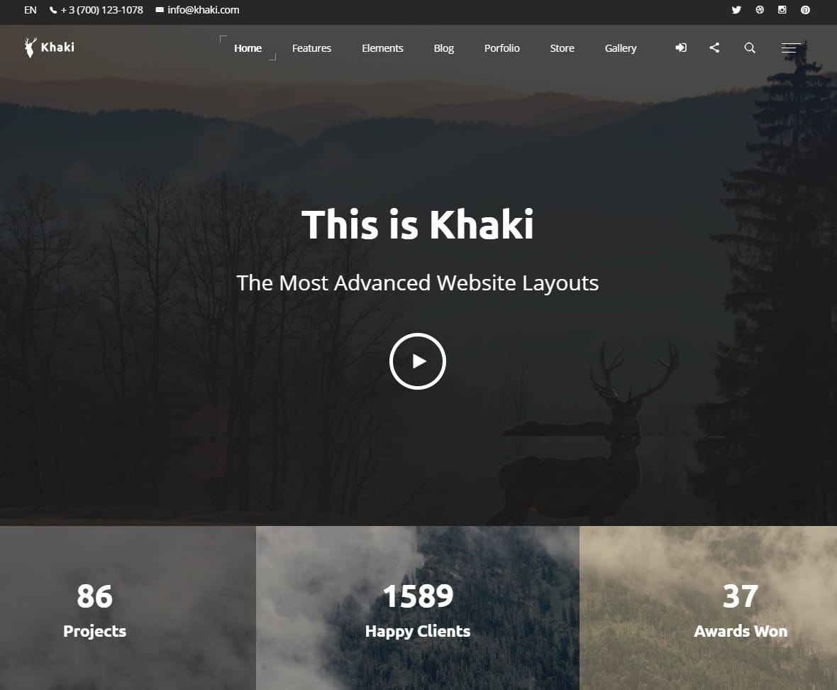 khaki-one-page-website-template