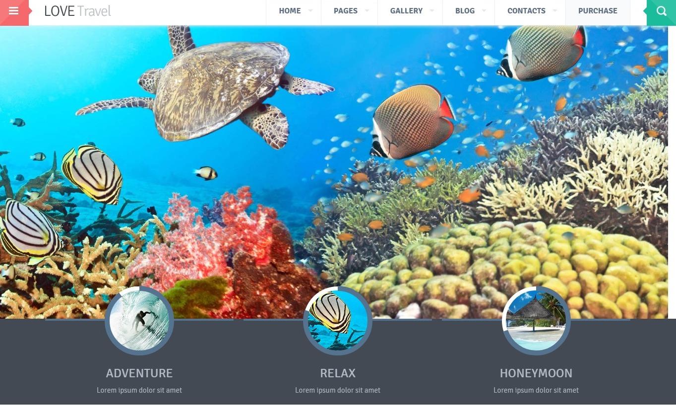 lovetravel-travel-website-template