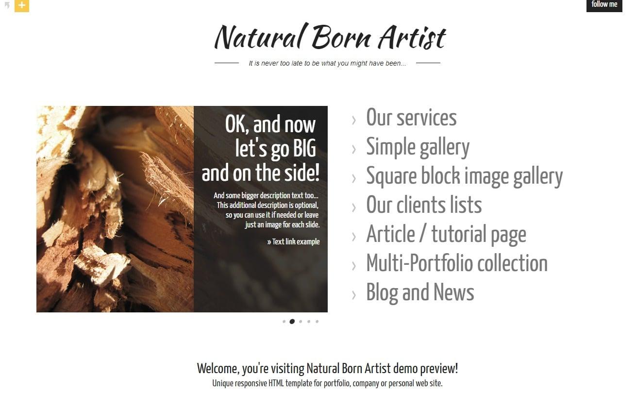 natural-born-artist-simple-website-template