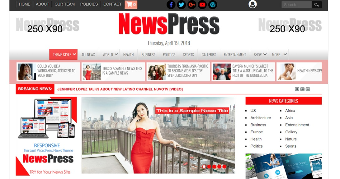 40 Premium Professional News Website Templates For News Websites