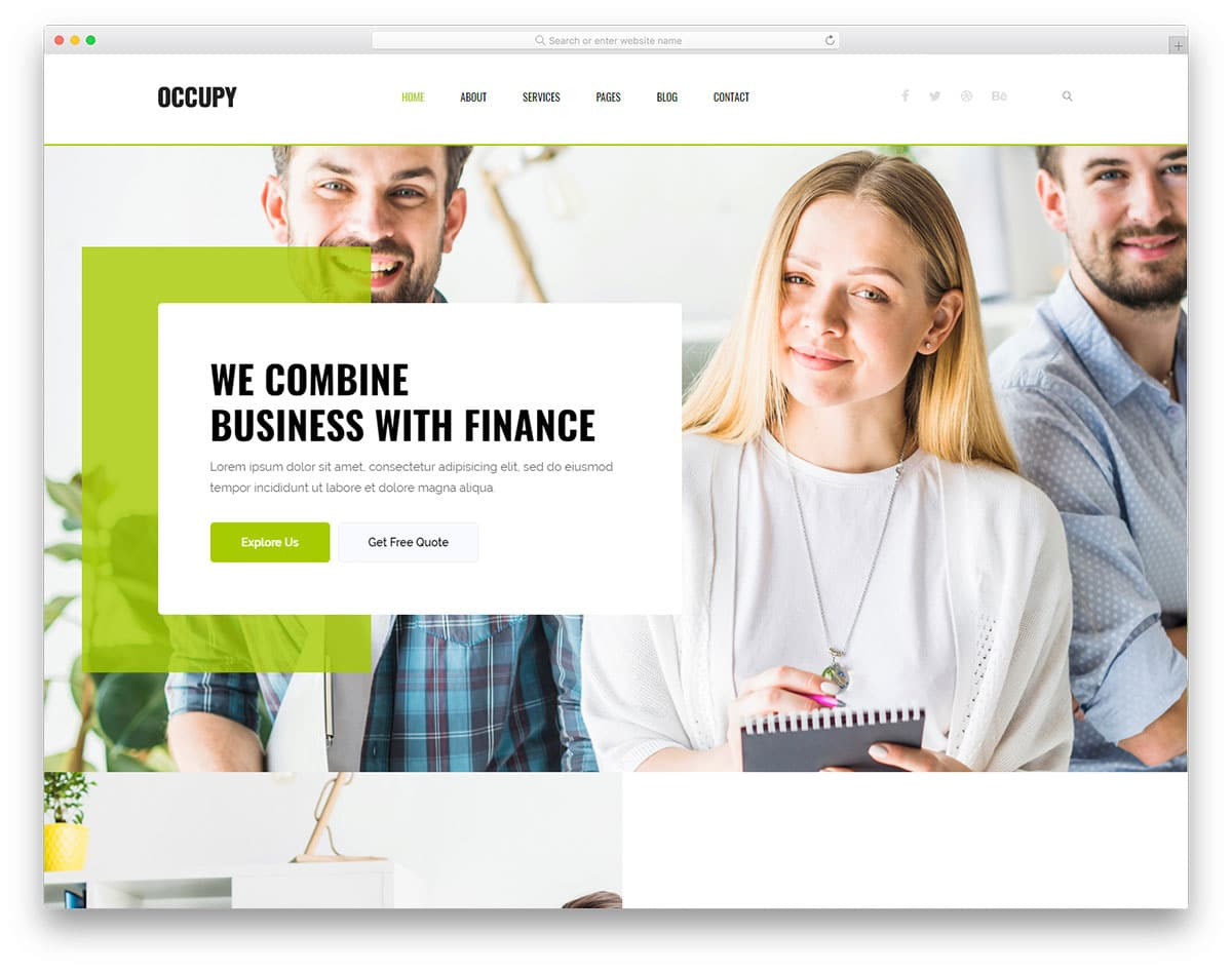 occupy-free-bootstrap-business-templates