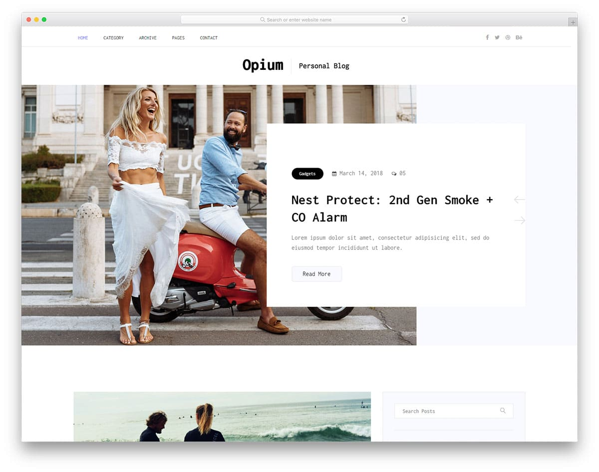 opium-free-bootstrap-blog-templates