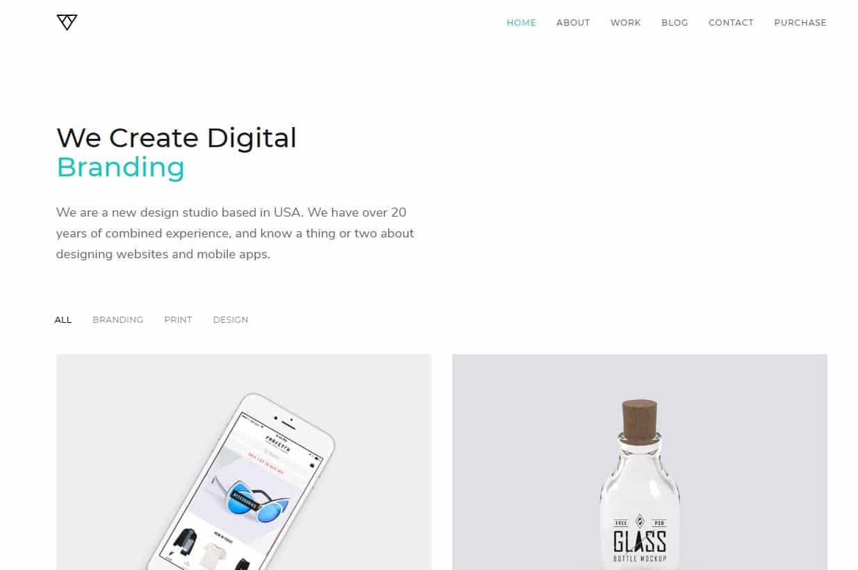 piroll-simple-website-template