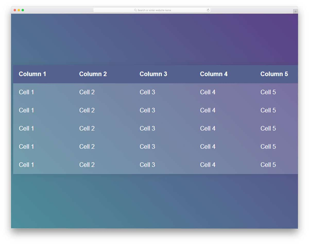28 Best CSS Table Templates For Creating Appealing Tables 2019