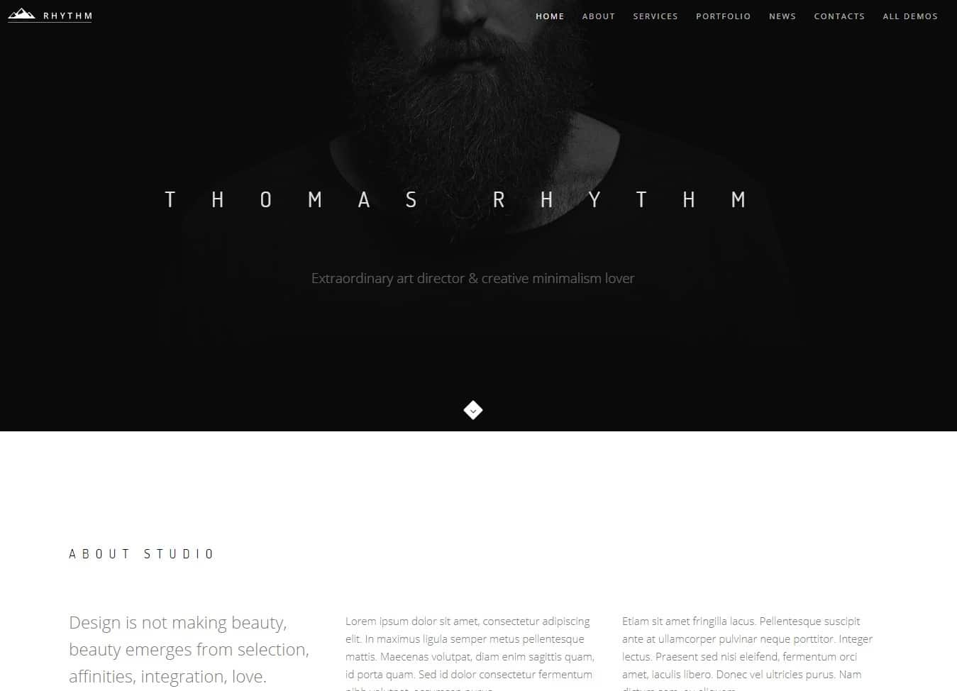 rhythm-one-page-website-template