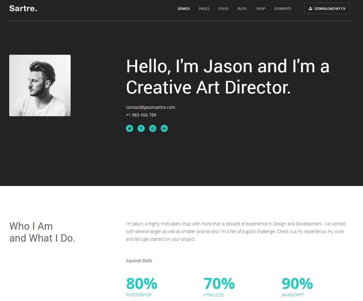 sartre-one-page-website-template