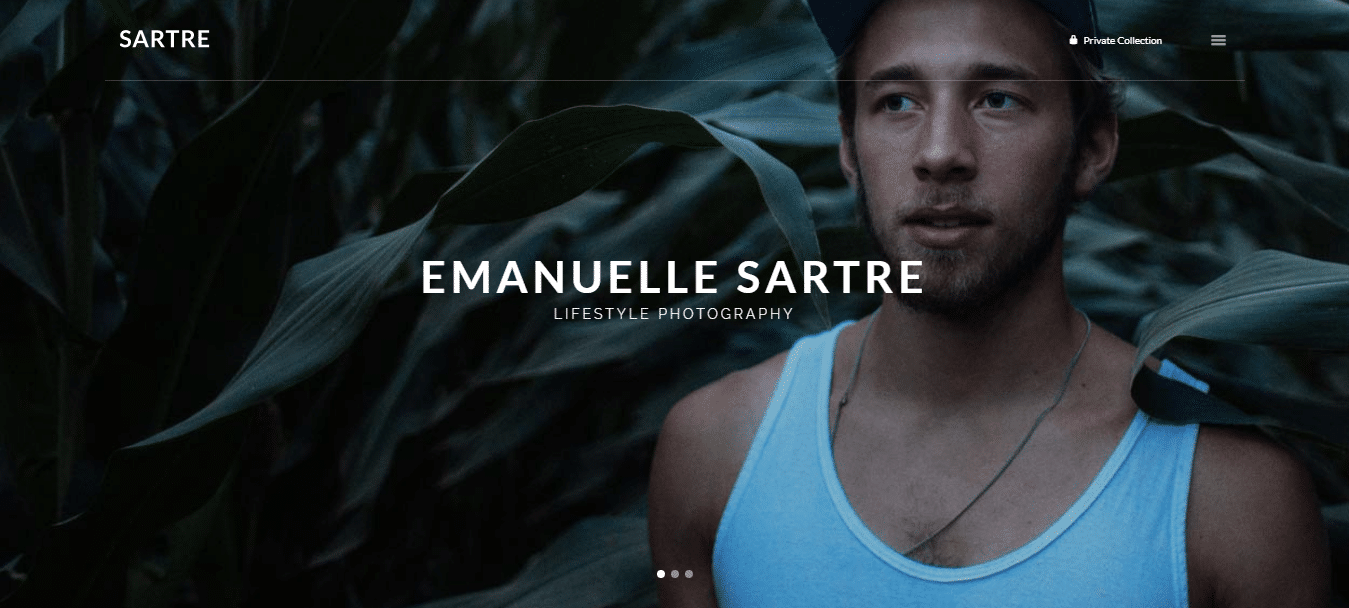sartre-photography-website-template