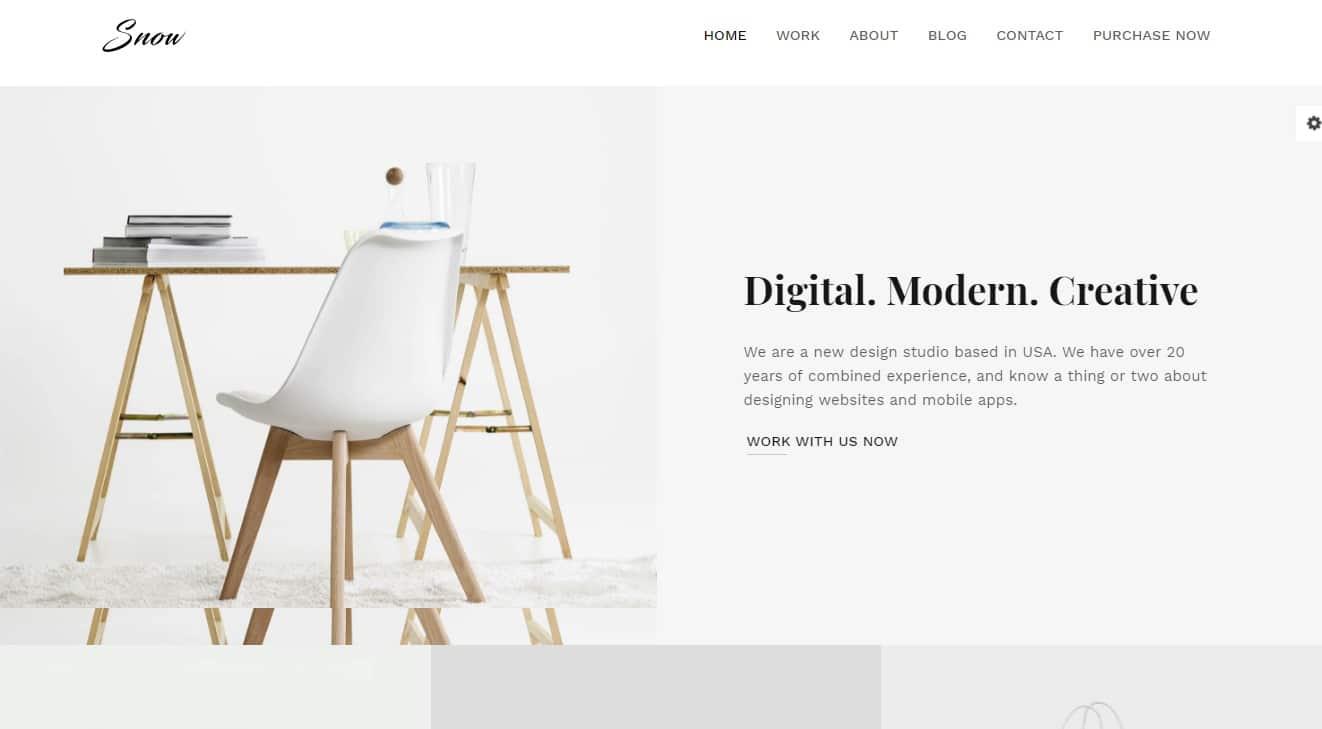 snow-simple-website-template