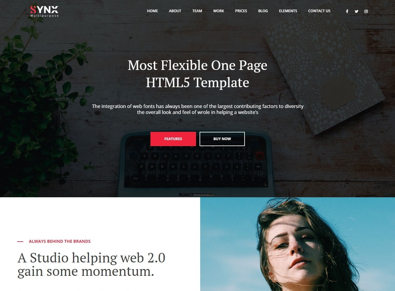 synx-one-page-website-template