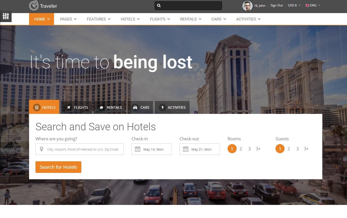 traveller-travel-website-template