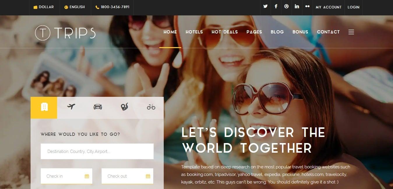 trips-travel-website-template