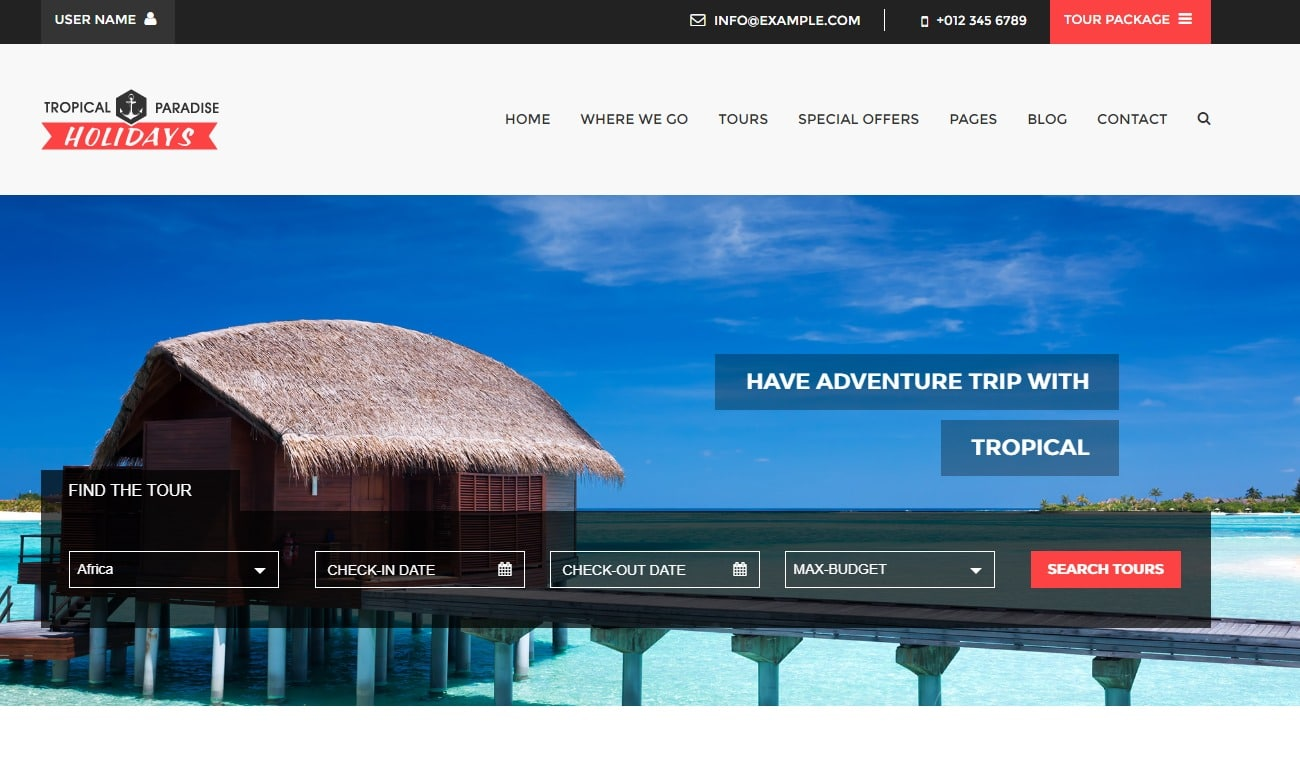 tropical-travel-website-template