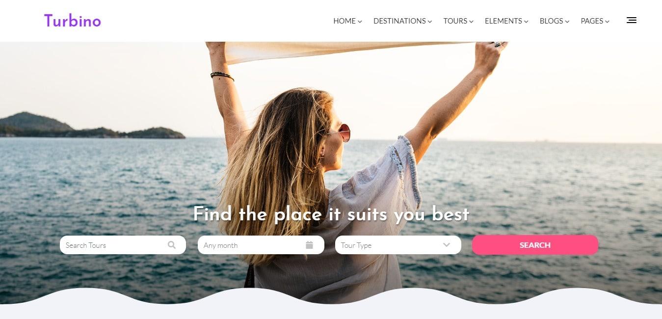 turbino-travel-website-template