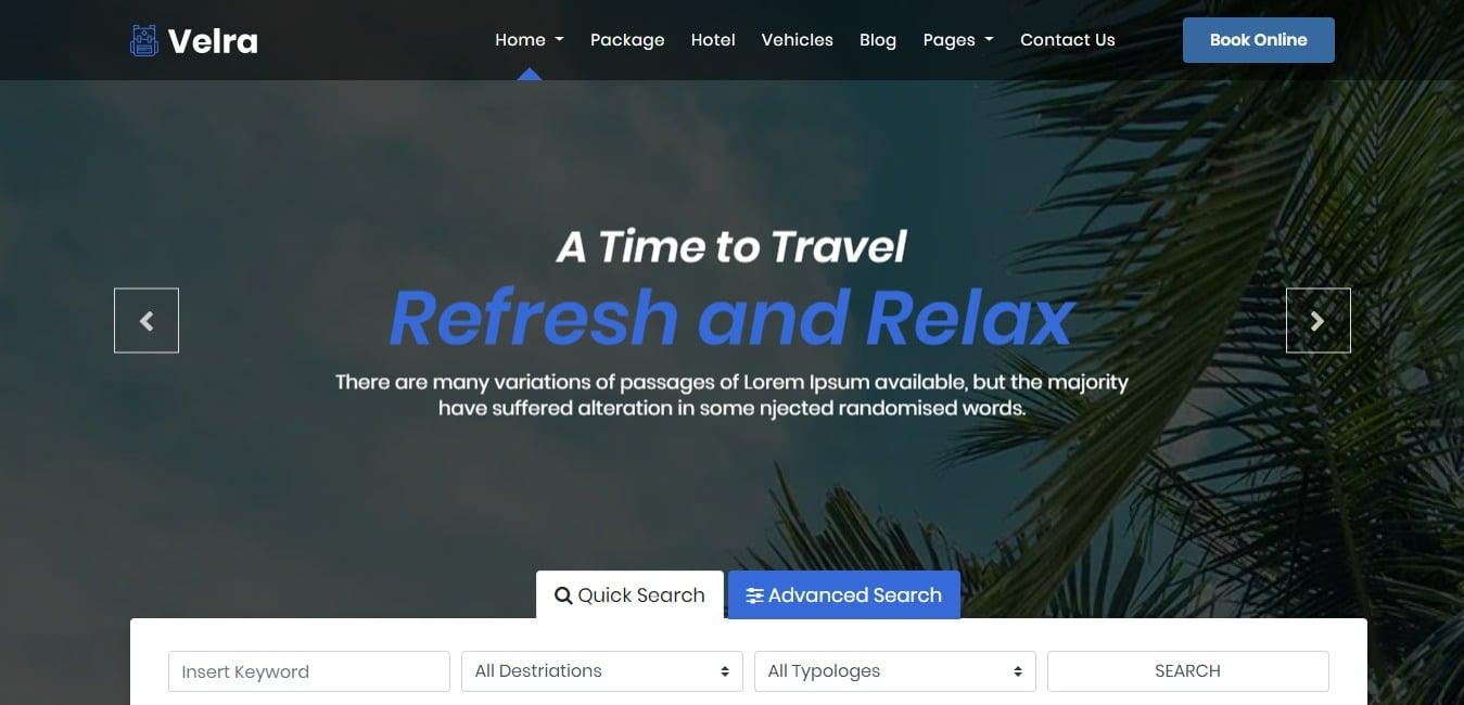 velra-travel-website-template