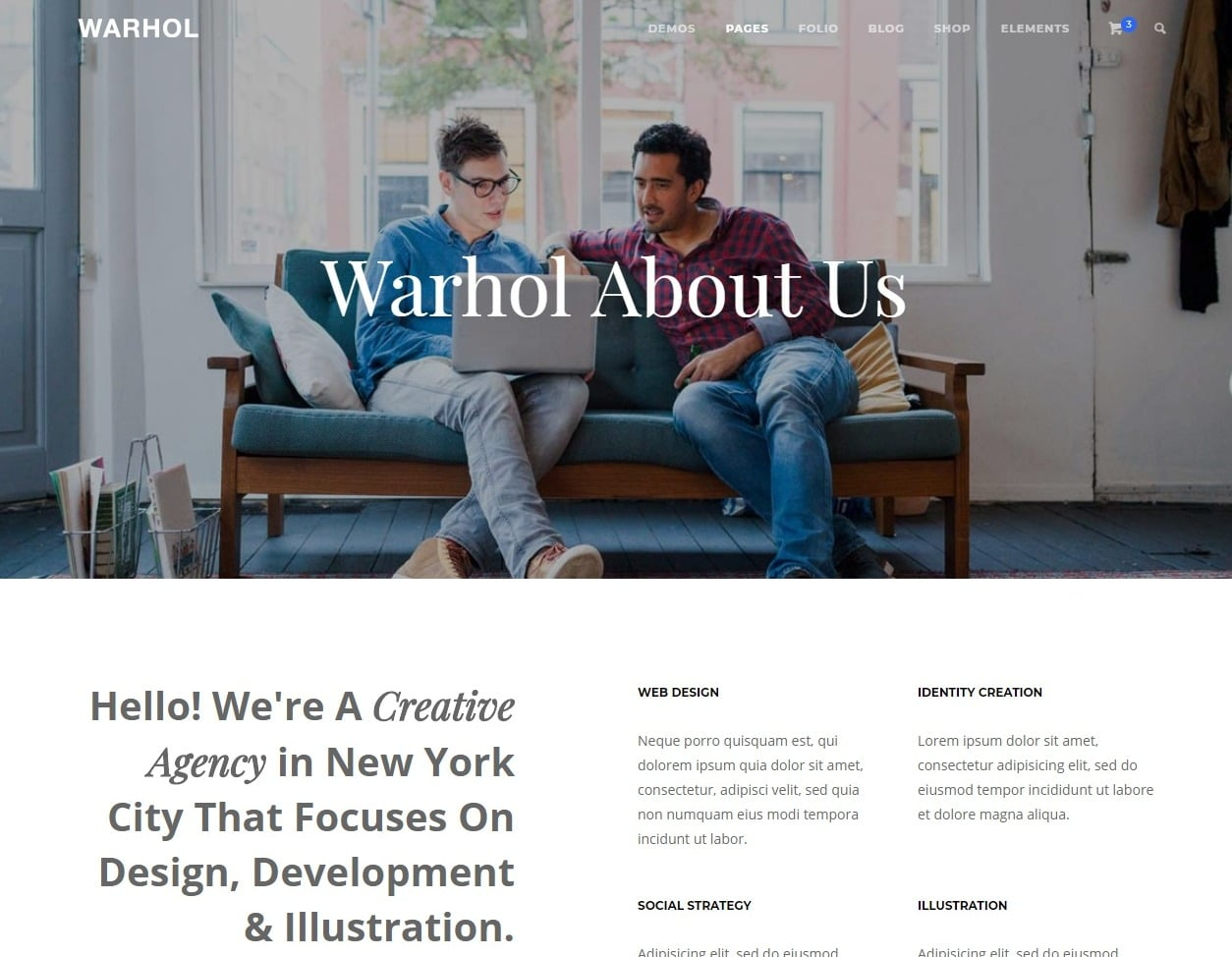 warhol-one-page-website-template