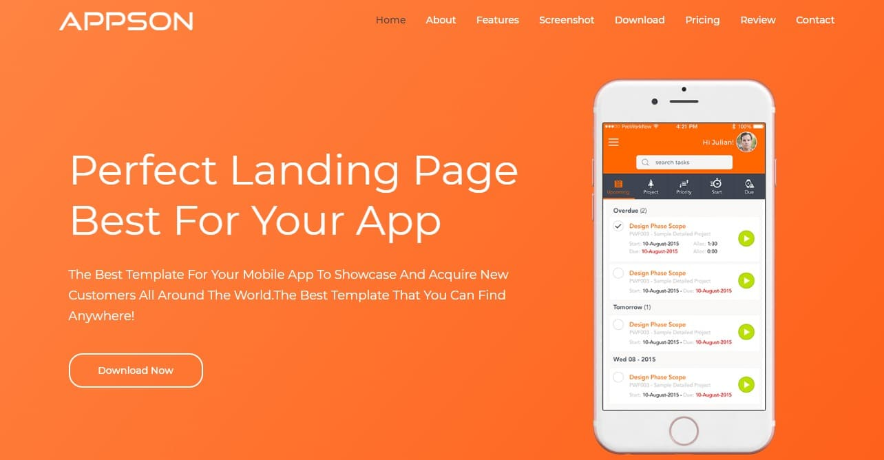 25+ Stylish and Trendy Bootstrap Mobile App Templates and