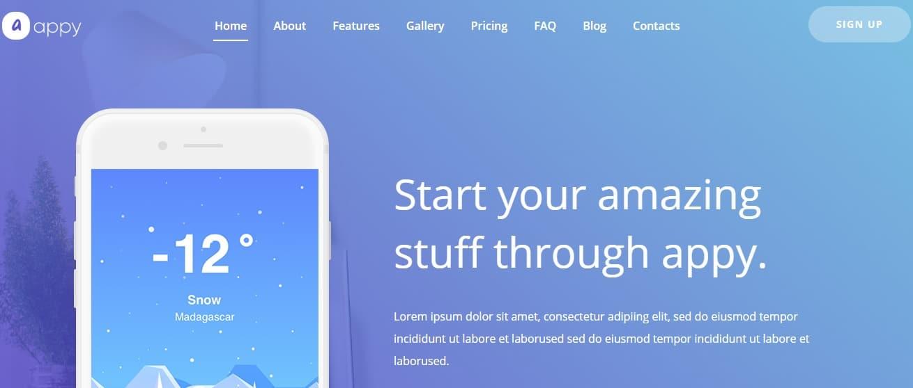 Appy-App-Landing-Template