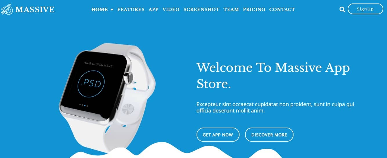 Massive-App-Landing-Template
