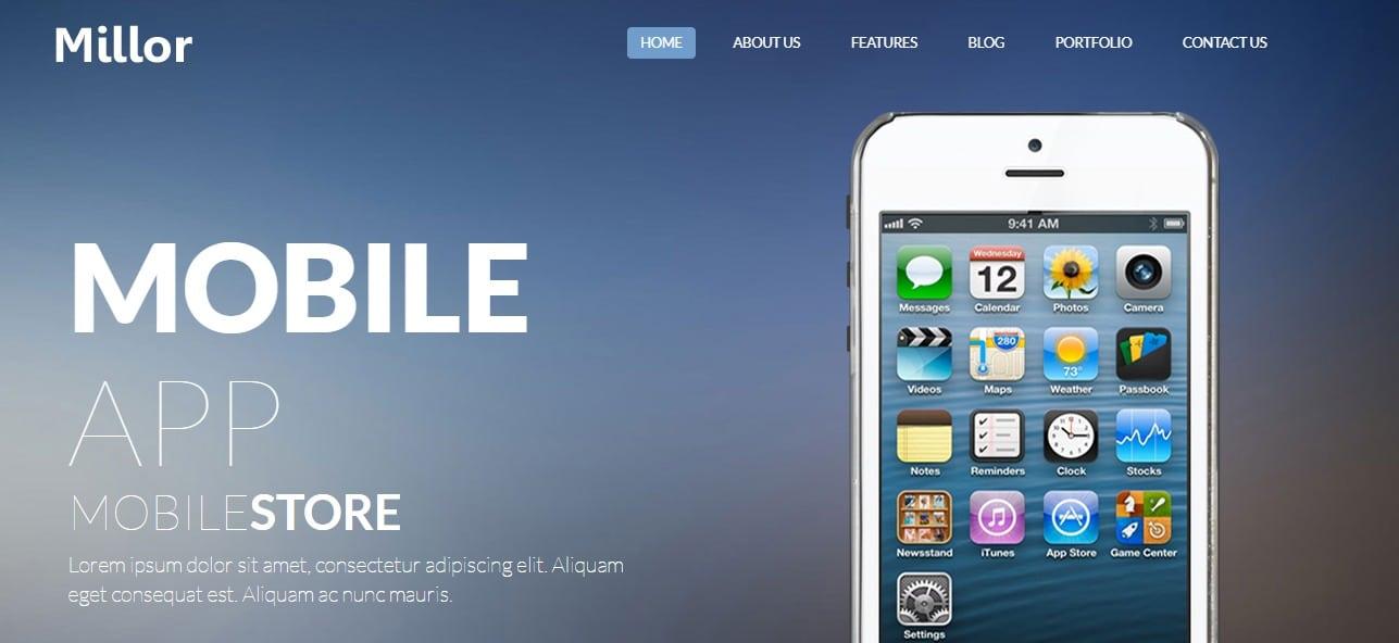 Millor-mobile-app-templates