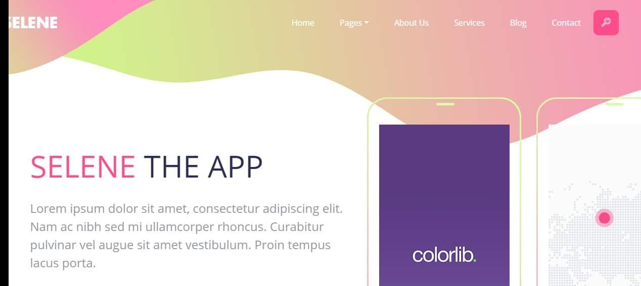 Selene -App-Landing-Page