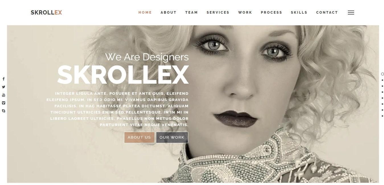 Skrollex-personal-website-template