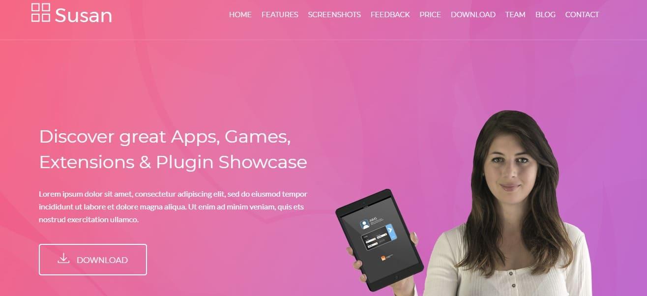 SuSan-App Landing-Page