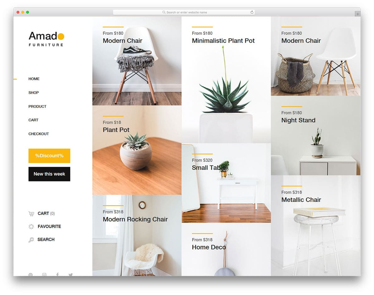 amado-free-clean-website-templates