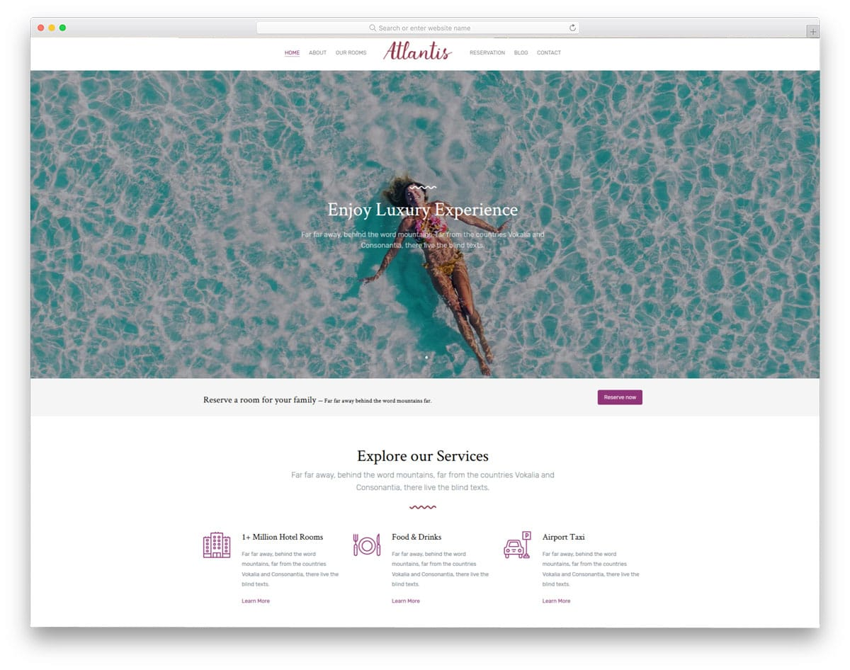 atlantis free web design templates