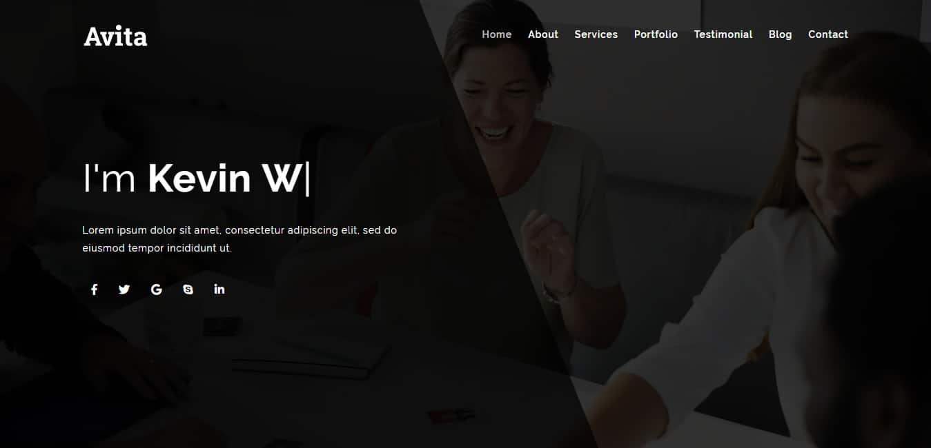 avita-personal-website-template