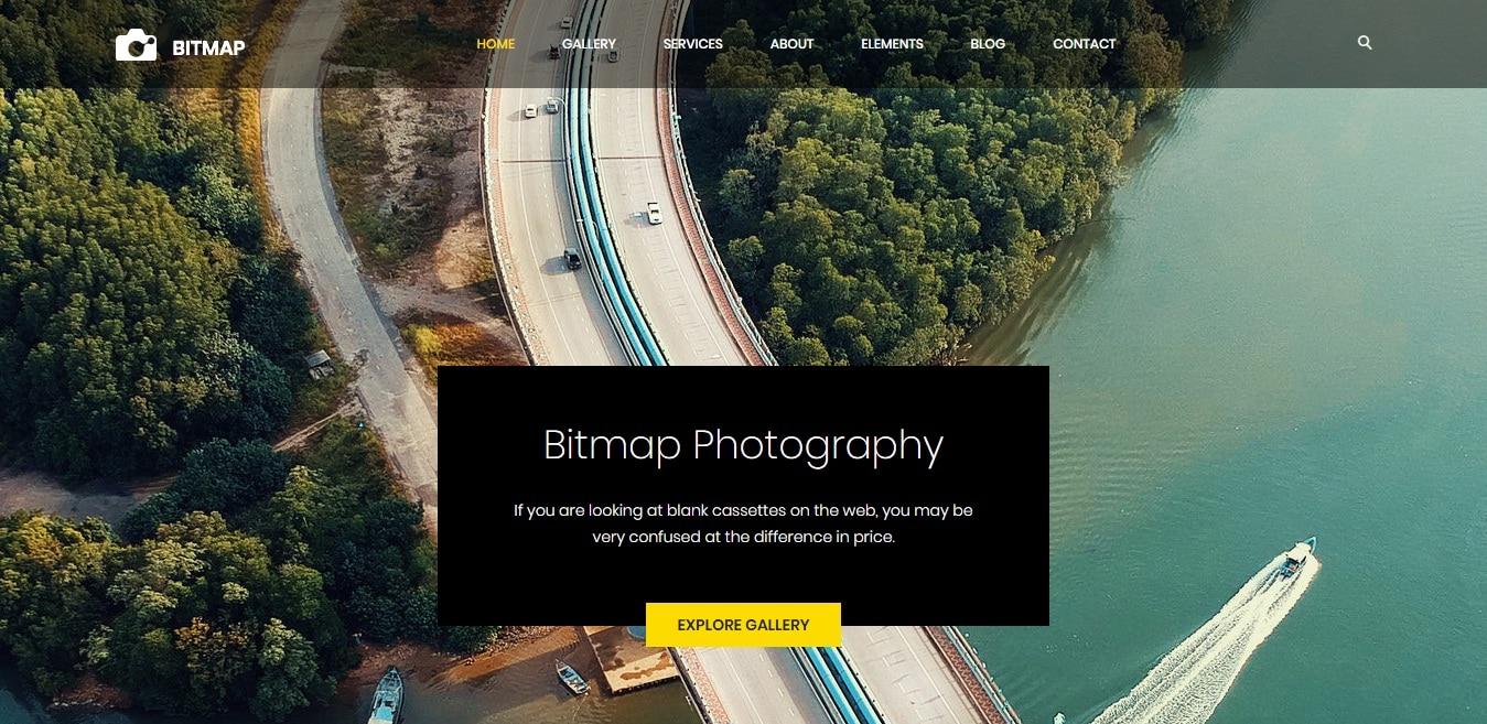 bitmap-gallery-website-template