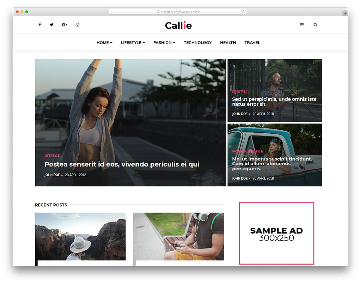 callie-free-clean-website-templates