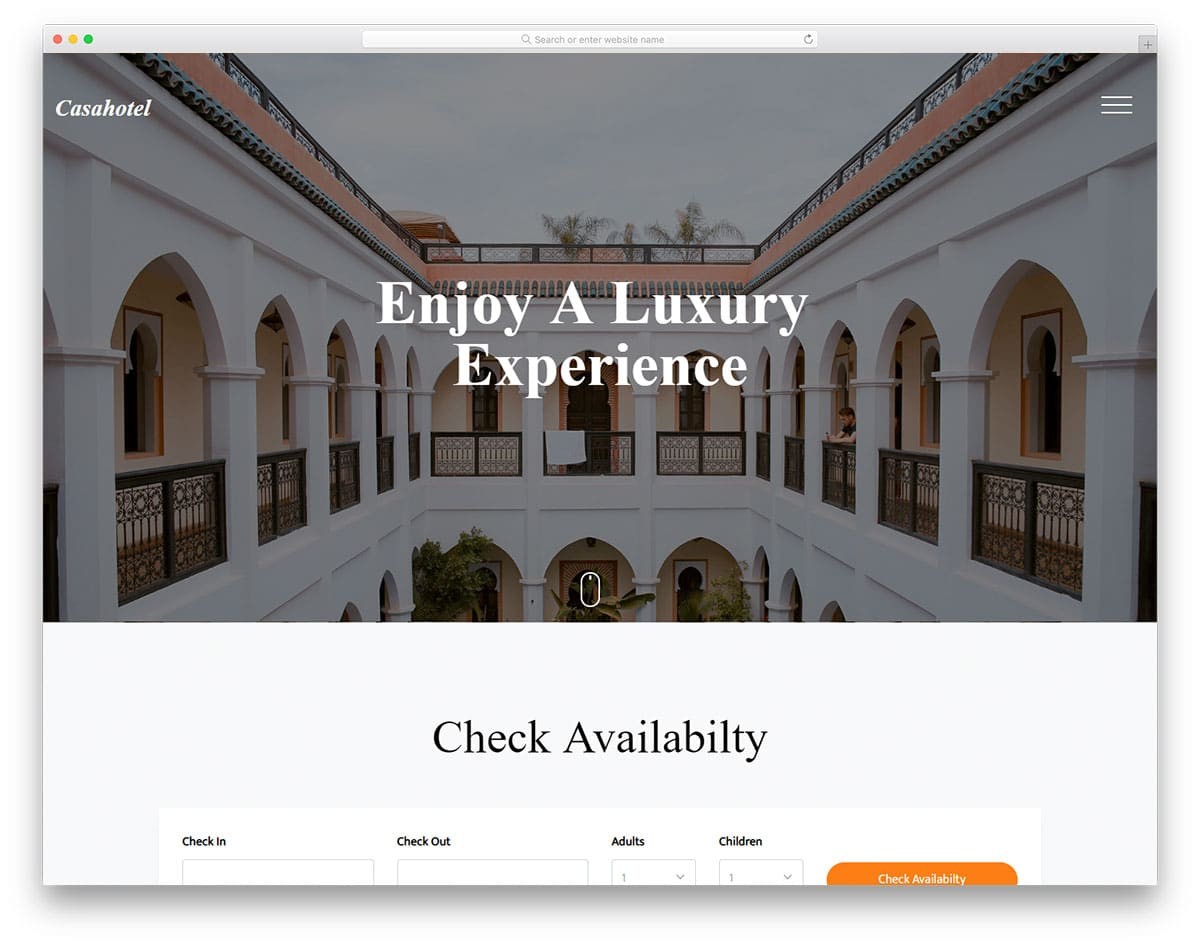 casahotel-free-template