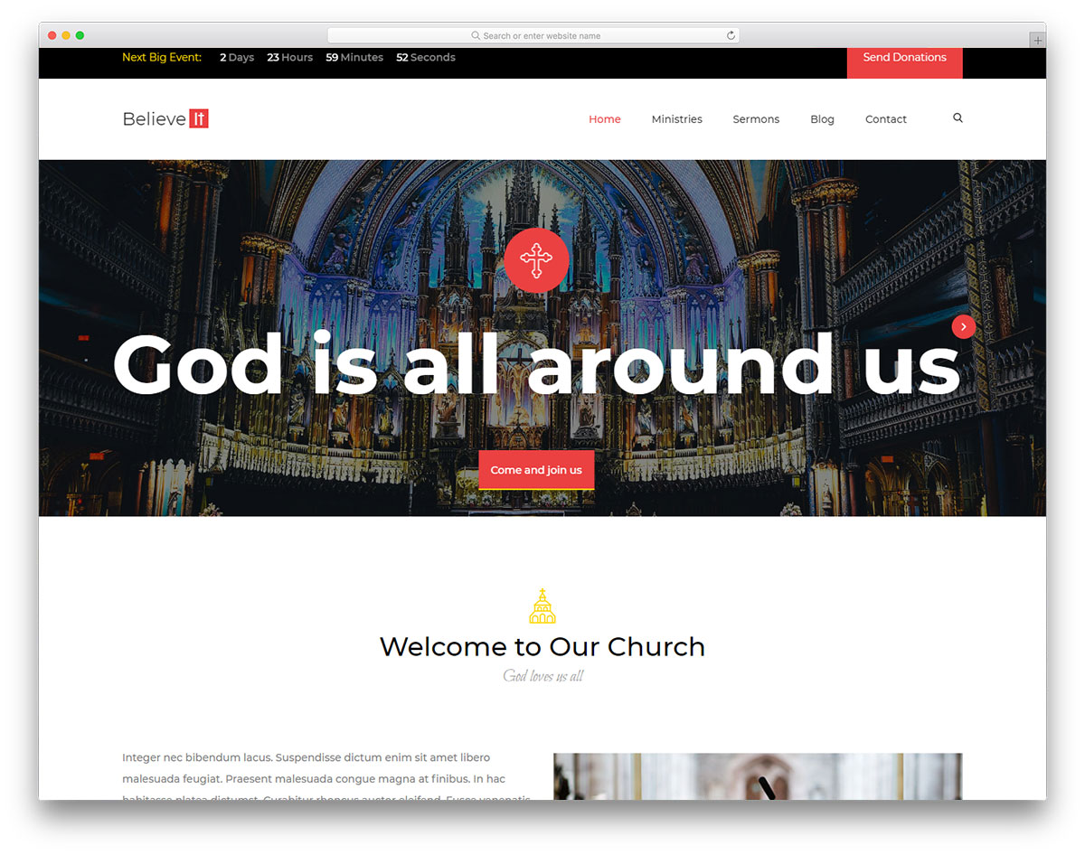 church-free-web-design-templates