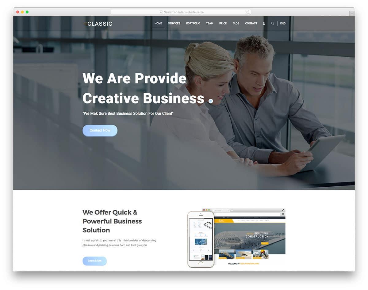 classic-free-school-website-templates