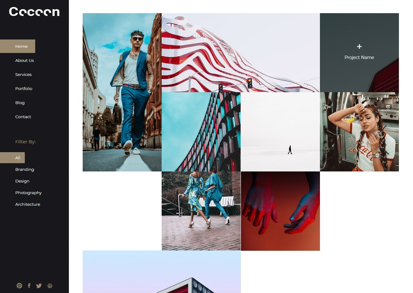 cocoon-gallery-website-template