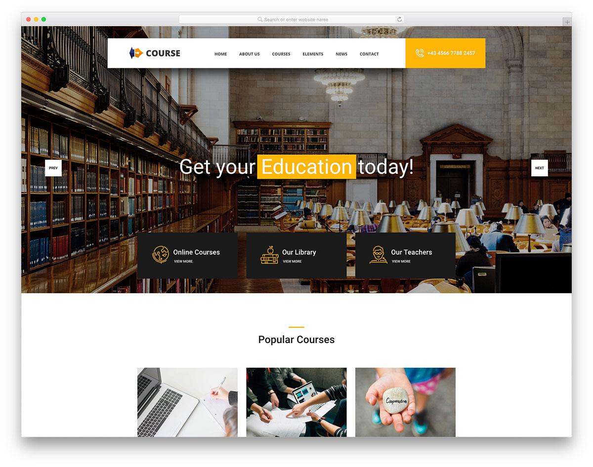 course-free-school-website-templates
